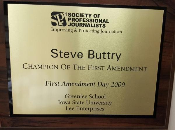 First Amendment plaque