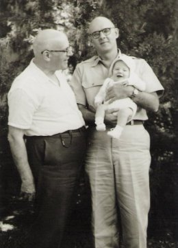 Three generations of Frank Arnolds: My grandfather, uncle and cousin.