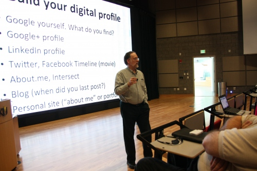 Guest-speaking at Northern Kentucky University, 2012