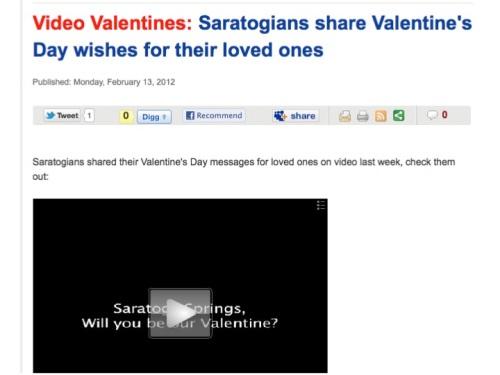 Saratogian Valentine's contest