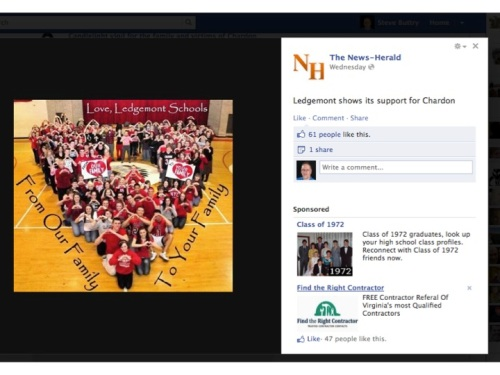 News-Herald Facebook photo about Chardon High School shooting
