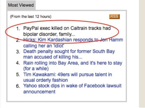 San Jose Mercury News most-viewed stories