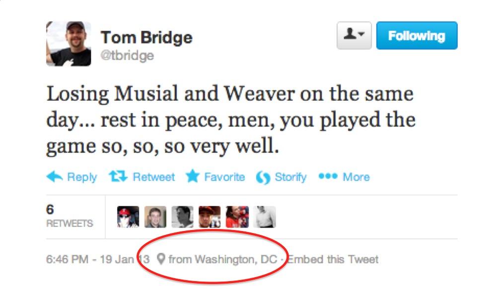 Tom Bridge tweet