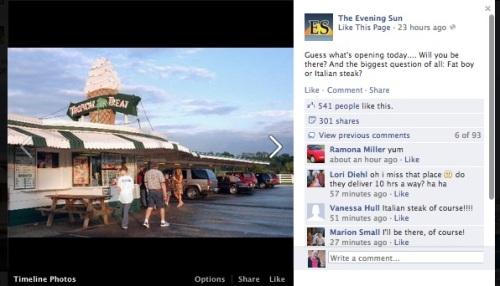 Hanover Facebook update