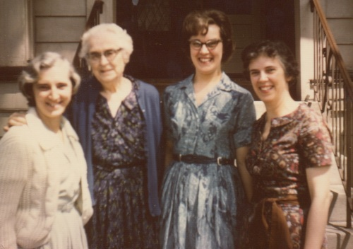 The author and her daughters: from left, Helen Arnold Hoel, Francena H. Arnold, Shirley Arnold Worgul, Harriet Arnold Buttry