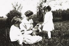Francena H. Arnold, center, with Frank and Helen.