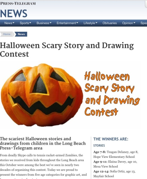 Long Beach Press-Telegram Scary Story contest