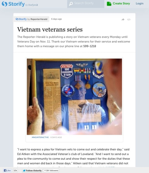 Reporter Herald stories about Vietnam veterans