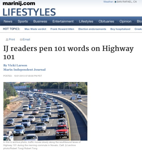 Marin Independent Journal readers wrote about Highway 101