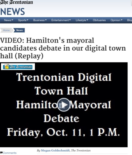 Trentonian live coverage of Hamilton mayor debate