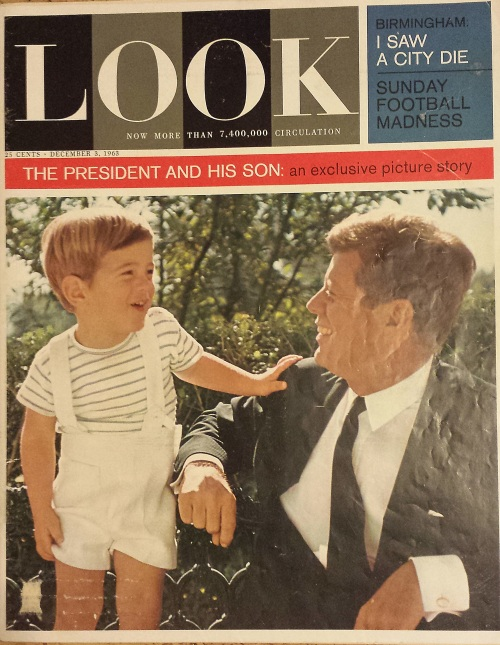 Look magazine, Dec. 3, 1963, John F. Kennedy Sr. and Jr.