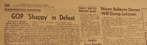 Nov. 22 1963 Ogden Standard-Examiner Nixon story