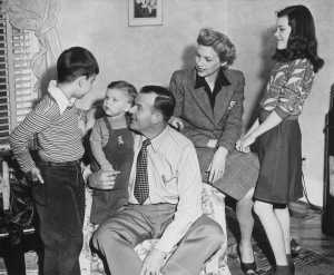 Michael Croxdale, Bobby Moore, Bob Moore, Dorothy and Nancy Moore, 1947