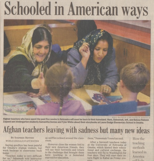 Afghan schooled