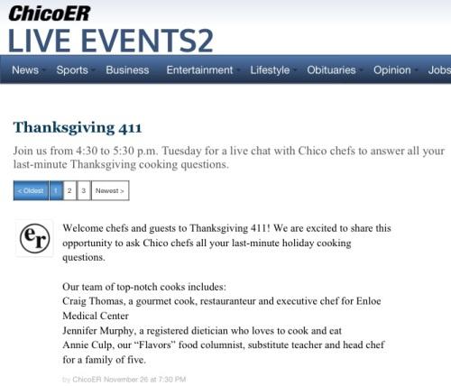 Chico Thanksgiving 411