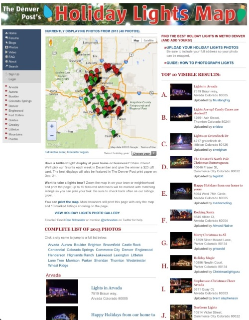 Denver Post holiday lights