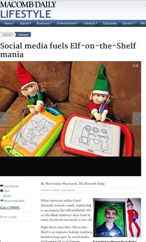 Macomb Daily Elf on the Shelf