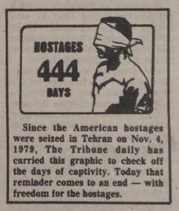 Des Moines Tribune hostage logo