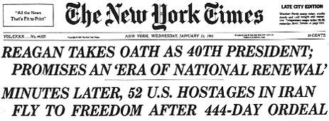 NYT realease hostages 1981