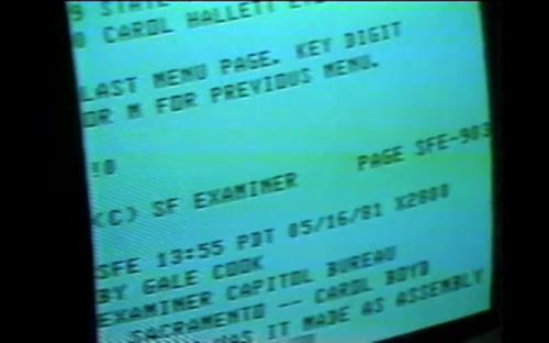 A 1981 Gale Cook story on an early newspaper computer content-delivery system.