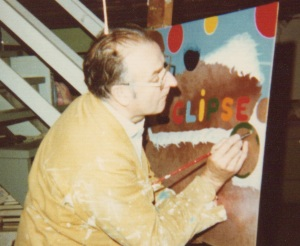 Dad painting