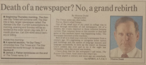 Death of a newspaper
