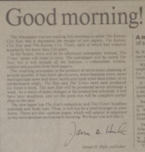Jim Hale letter