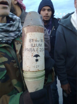 Photo of a shell found in Libya, posted on Al Manara Press Facebook page.