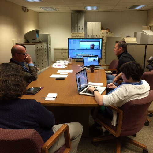 A news meeting at the Bangor Daily News. Photo courtesy of Anthony Ronzio.