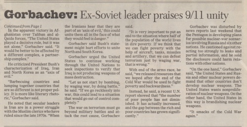 Omaha World-Herald story on Steve Buttry interview with Mikhail Gorbachev