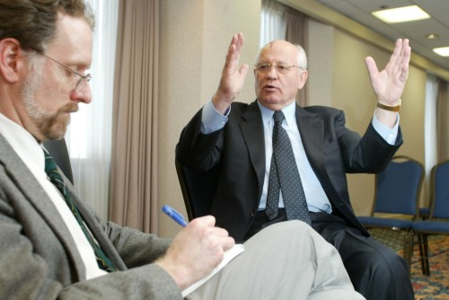 Steve Buttry interviews Mikhail Gorbachev, March 14, 2002