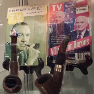 Arizona State's Cronkite Gallery includes two of his pipes.