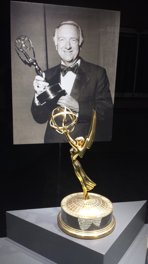 The Emmy in the Cronkite Memorial.