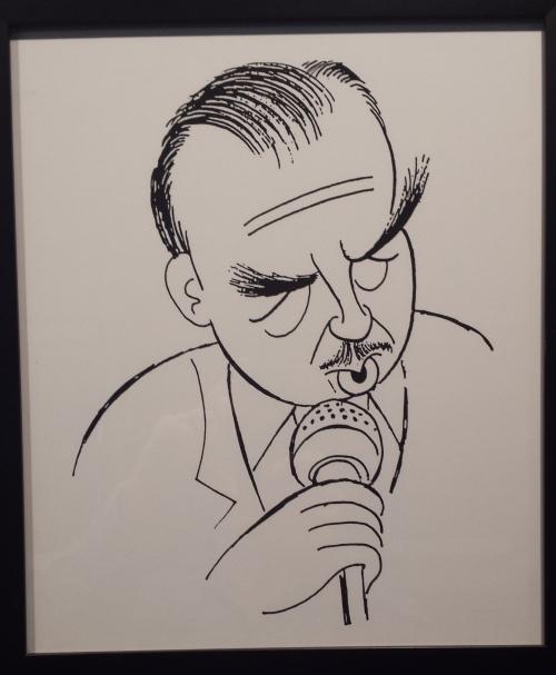 An Al Hirschfeld caricature of Walter Cronkite
