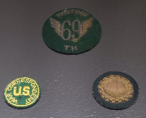 Cronkite's war correspondent patches.