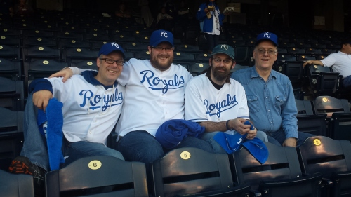 My sons and I watched the Kansas City Royals play the San Francisco Giants play in the World Series 15 years after my first cancer diagnosis.