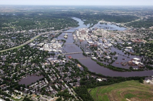 Cedar Rapids flood, 2008. Gazette photo by Liz Martin, used by permission.