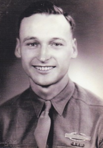 Pleasant Buttry served in the Army in World War II.