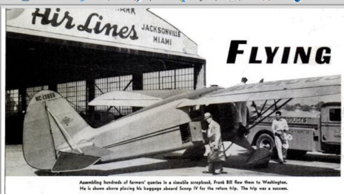 Popular Aviation profiled the Scoop in 1938.