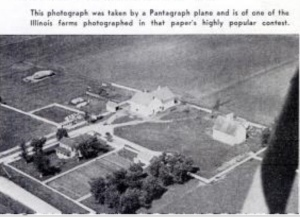 One of the aerial farmstead photos, from the Popular Aviation story.