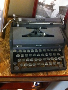 My father's old Royal typewriter, a prized possession that sits in my office.