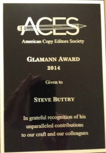 Glamann Award for Steve Buttry