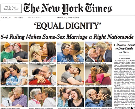 NYT marriage front page