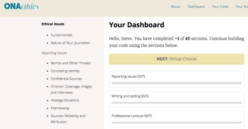 ethics dashboard