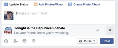 Facebook debate