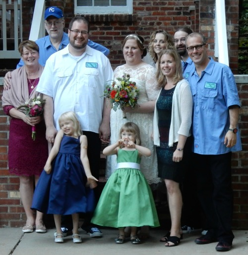 Our family gathered for the wedding, first time we were all together since Thanksgiving.