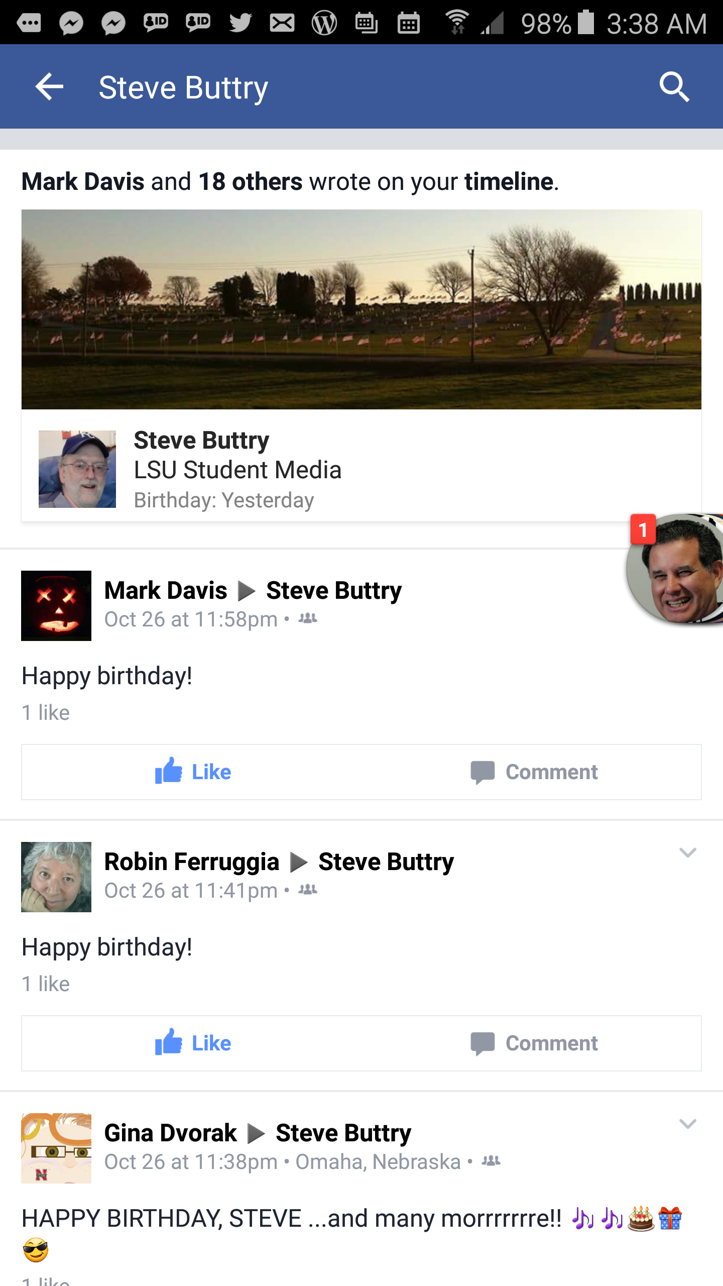 Facebook sucks except when it doesnt like on my birthday the i tried the android app because i really wanted to respond to all those kind comments i could actually get to my birthday greetings there screenshot at kristyandbryce Image collections