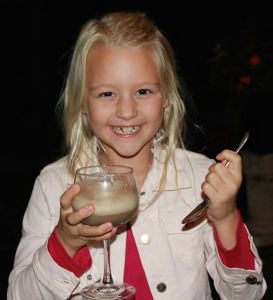 Great niece Lena enjoys a root beer float. Photo by Meg Head.