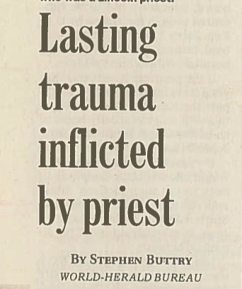 Lasting trauma inflicted by priest