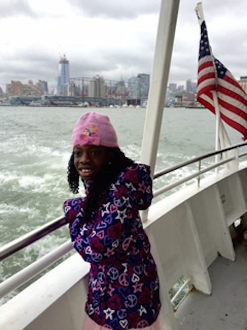 Maya enjoyed a cruise on her day in New York.